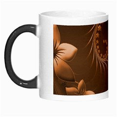 Dark Brown Abstract Flowers Morph Mug by BestCustomGiftsForYou
