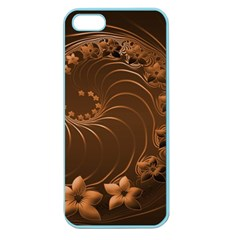 Dark Brown Abstract Flowers Apple Seamless Iphone 5 Case (color) by BestCustomGiftsForYou