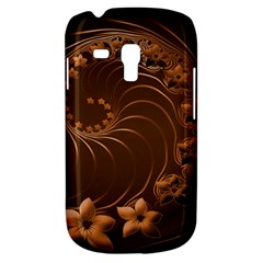 Dark Brown Abstract Flowers Samsung Galaxy S3 Mini I8190 Hardshell Case by BestCustomGiftsForYou