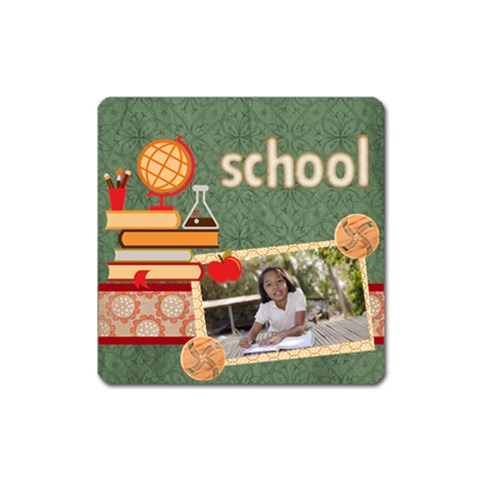 Back To School By School   Magnet (square)   Rqkp5lfzz7xi   Www Artscow Com Front