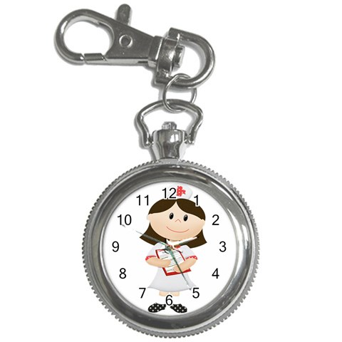 Nurse Watch Key Chain By Eleanor Norsworthy   Key Chain Watch   Dxu2xndbpl83   Www Artscow Com Front