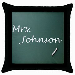 Teacher chalkboard mouse pad Throw Pillow Case by ComputerArt