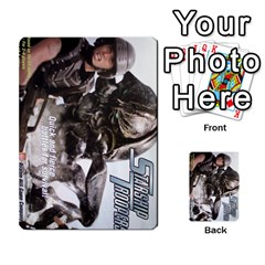 Starship Troopers Prepare For Battle Deck By Michael   Playing Cards 54 Designs   Z252jm23jd2m   Www Artscow Com Back