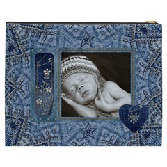Denim Love Xxxl Cosmetic Bag By Lil    Cosmetic Bag (xxxl)   M5ttfngaayba   Www Artscow Com Back