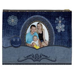 Denim Designs Xxxl Cosmetic Bag By Lil    Cosmetic Bag (xxxl)   7ciawq0u9bpt   Www Artscow Com Back