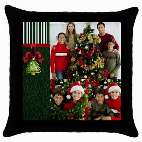 Merry Christmas By Merry Christmas   Throw Pillow Case (black)   Ysfw8grejuto   Www Artscow Com Front