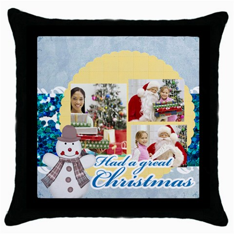 Merry Christmas By Merry Christmas   Throw Pillow Case (black)   7we07g93nmo8   Www Artscow Com Front