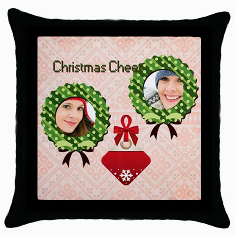 Merry Christmas By Merry Christmas   Throw Pillow Case (black)   X7fu5nb9ufj0   Www Artscow Com Front