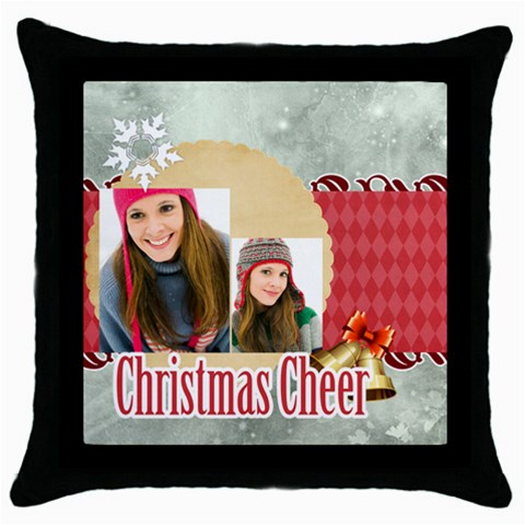 Merry Christmas By Merry Christmas   Throw Pillow Case (black)   9gkqksxzrruw   Www Artscow Com Front