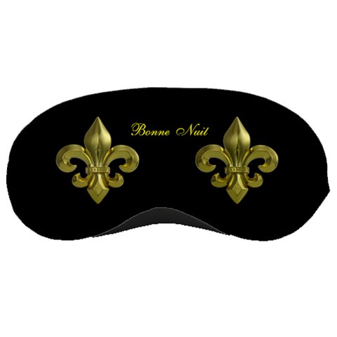 Fleur De Lys Sleep Mask By Rd   Sleeping Mask   9f56fx0lsrum   Www Artscow Com Front