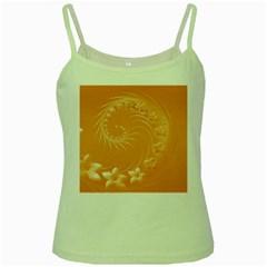 Orange Abstract Flowers Green Spaghetti Tank by BestCustomGiftsForYou