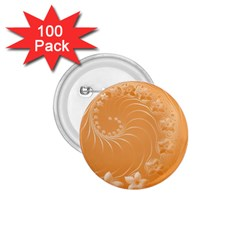 Orange Abstract Flowers 1 75  Button (100 Pack) by BestCustomGiftsForYou