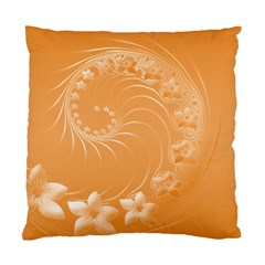 Orange Abstract Flowers Cushion Case (one Side) by BestCustomGiftsForYou