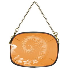 Orange Abstract Flowers Chain Purse (two Side) by BestCustomGiftsForYou