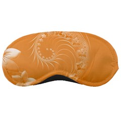 Orange Abstract Flowers Sleeping Mask by BestCustomGiftsForYou