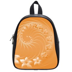 Orange Abstract Flowers School Bag (small) by BestCustomGiftsForYou