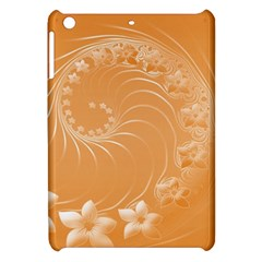 Orange Abstract Flowers Apple Ipad Mini Hardshell Case by BestCustomGiftsForYou