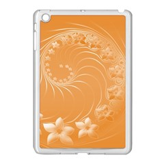 Orange Abstract Flowers Apple Ipad Mini Case (white)
