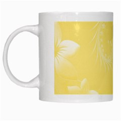 Yellow Abstract Flowers White Coffee Mug by BestCustomGiftsForYou