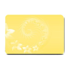 Yellow Abstract Flowers Small Door Mat by BestCustomGiftsForYou