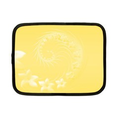 Yellow Abstract Flowers Netbook Case (small) by BestCustomGiftsForYou