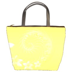Yellow Abstract Flowers Bucket Bag by BestCustomGiftsForYou