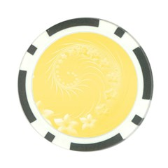 Yellow Abstract Flowers Poker Chip 10 Pack by BestCustomGiftsForYou