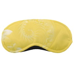 Yellow Abstract Flowers Sleeping Mask by BestCustomGiftsForYou