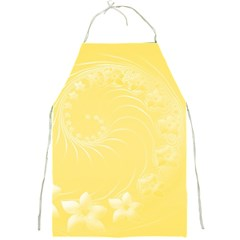 Yellow Abstract Flowers Apron by BestCustomGiftsForYou