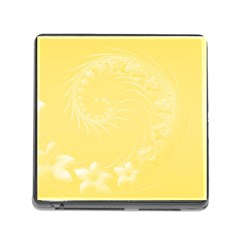 Yellow Abstract Flowers Memory Card Reader With Storage (square) by BestCustomGiftsForYou