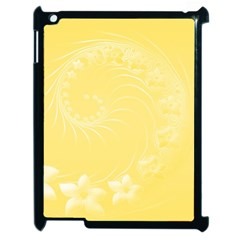 Yellow Abstract Flowers Apple iPad 2 Case (Black) by BestCustomGiftsForYou