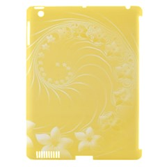 Yellow Abstract Flowers Apple Ipad 3/4 Hardshell Case (compatible With Smart Cover) by BestCustomGiftsForYou