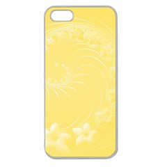 Yellow Abstract Flowers Apple Seamless Iphone 5 Case (clear) by BestCustomGiftsForYou