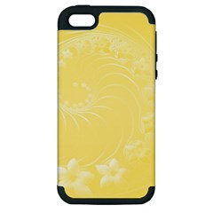 Yellow Abstract Flowers Apple iPhone 5 Hardshell Case (PC+Silicone)