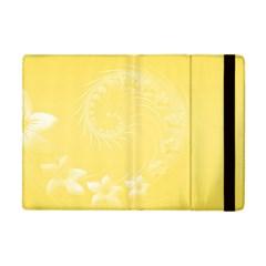 Yellow Abstract Flowers Apple Ipad Mini Flip Case by BestCustomGiftsForYou