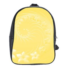Yellow Abstract Flowers School Bag (xl) by BestCustomGiftsForYou