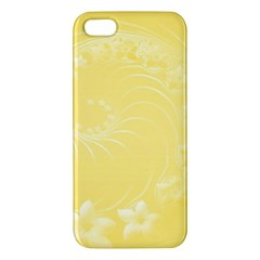 Yellow Abstract Flowers Iphone 5 Premium Hardshell Case by BestCustomGiftsForYou