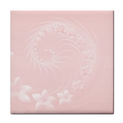 Light Pink Abstract Flowers Ceramic Tile by BestCustomGiftsForYou