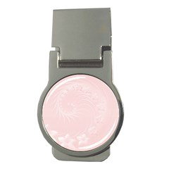 Light Pink Abstract Flowers Money Clip (round) by BestCustomGiftsForYou
