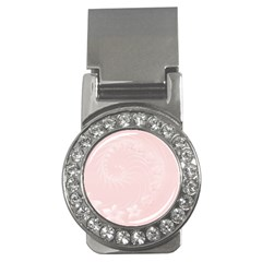 Light Pink Abstract Flowers Money Clip (cz) by BestCustomGiftsForYou