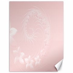 Light Pink Abstract Flowers Canvas 18  X 24  (unframed) by BestCustomGiftsForYou