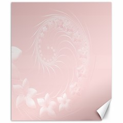 Light Pink Abstract Flowers Canvas 20  X 24  (unframed) by BestCustomGiftsForYou