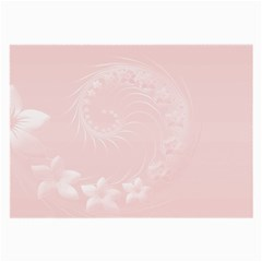 Light Pink Abstract Flowers Glasses Cloth (large) by BestCustomGiftsForYou