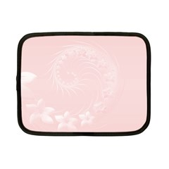 Light Pink Abstract Flowers Netbook Case (small) by BestCustomGiftsForYou