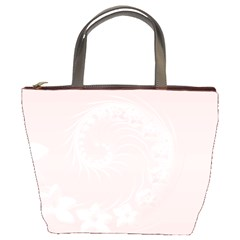 Light Pink Abstract Flowers Bucket Bag by BestCustomGiftsForYou