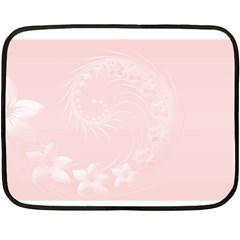Light Pink Abstract Flowers Mini Fleece Blanket (two Sided) by BestCustomGiftsForYou