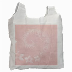 Light Pink Abstract Flowers Recycle Bag (two Sides) by BestCustomGiftsForYou