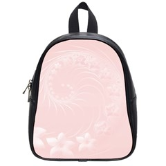 Light Pink Abstract Flowers School Bag (small) by BestCustomGiftsForYou
