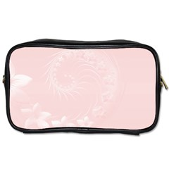 Light Pink Abstract Flowers Travel Toiletry Bag (two Sides) by BestCustomGiftsForYou