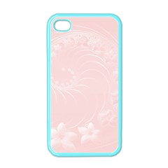Light Pink Abstract Flowers Apple Iphone 4 Case (color) by BestCustomGiftsForYou